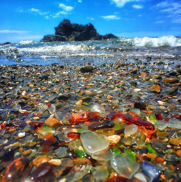 California Sea Glass Beach Sea Glass Art Glass Beach California
