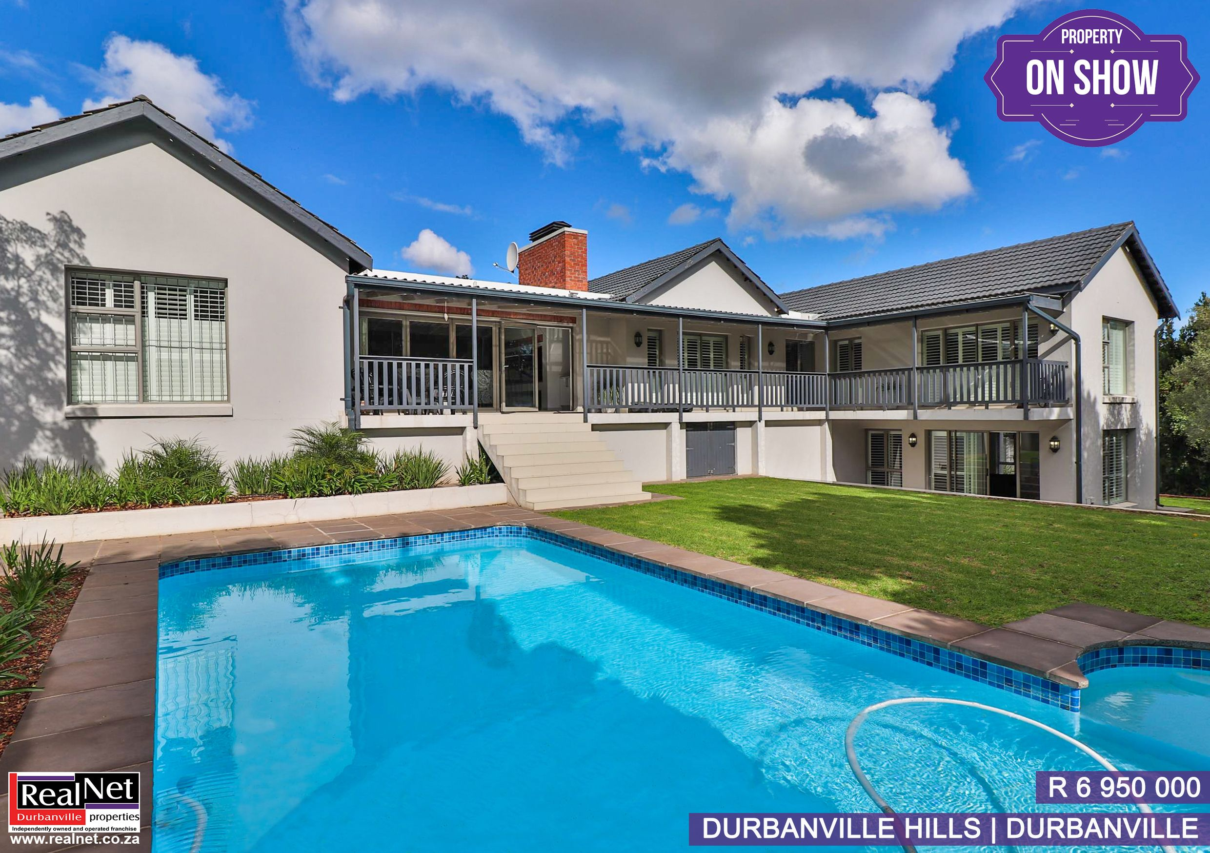 On Show Sunday 3 5 Pm You Are Welcome For More Information See Https Www Realnet Co Za Results Residential For Sale Durba House On A Hill House Property