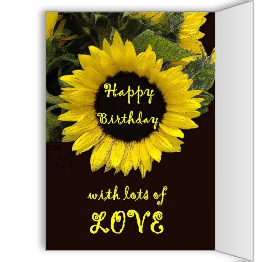 Oma Happy Birthday With Cheerful Sunflower Card Zazzle Com With