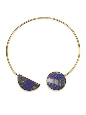 Nico Lapis & Agate Collar Necklace $395.0 by Saks Fifth Avenue