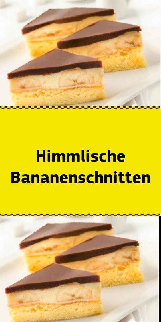 Himmlische Bananenschnitten #tortegeburtstag