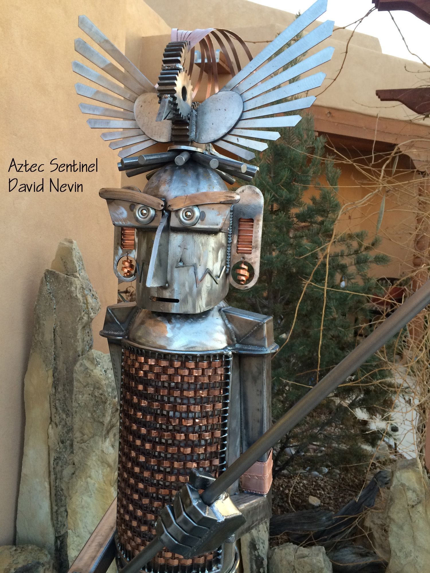 Aztec Sentinel Metal Sculpture 1   Junk art, Metal art ...