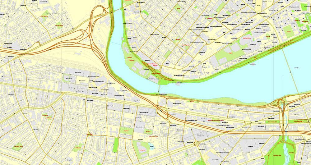 Boston machusetts on us map on
