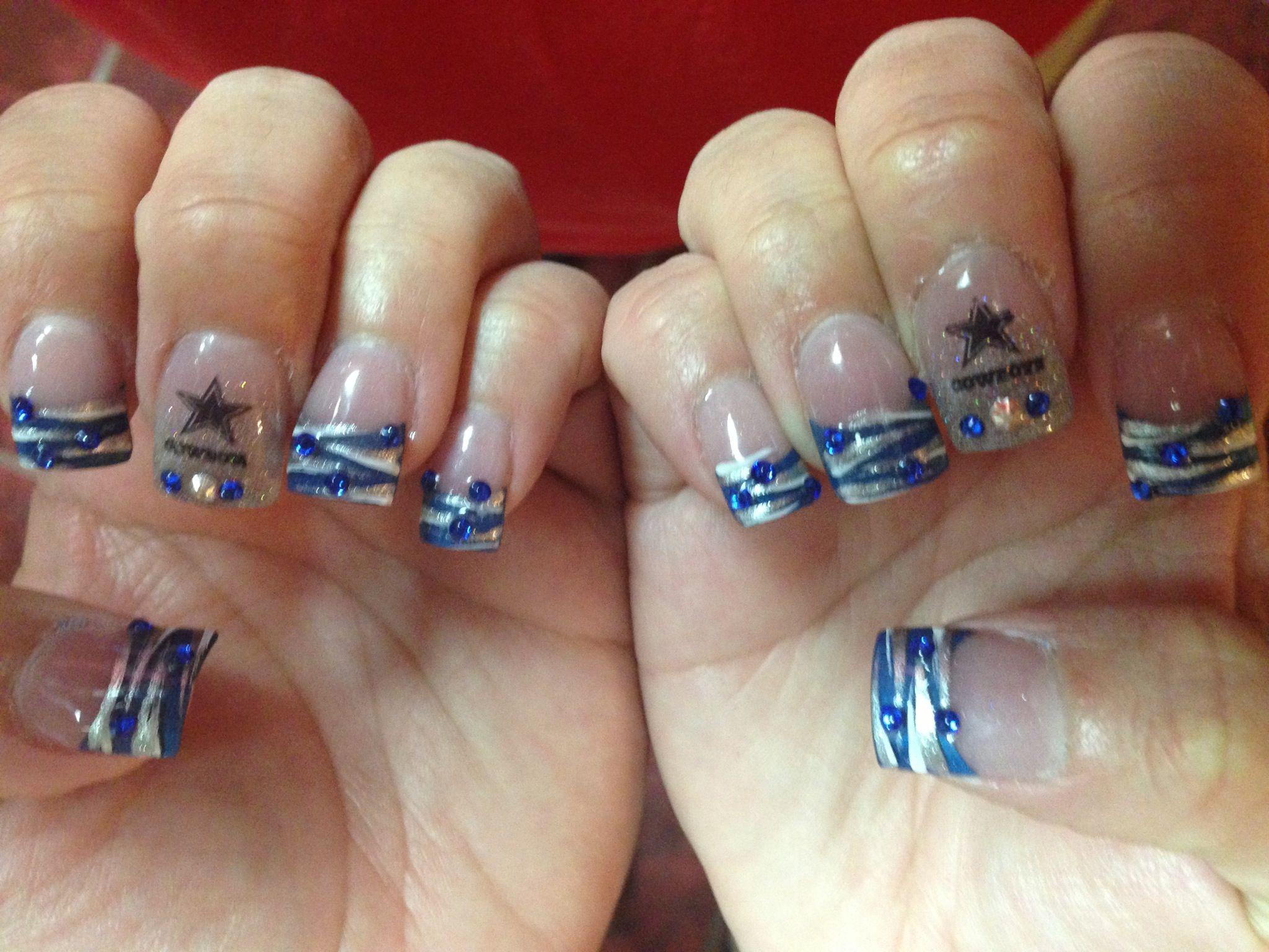 Dallas Cowboys Nails.. | Nails 2 | Pinterest | Dallas cowboys nails ...