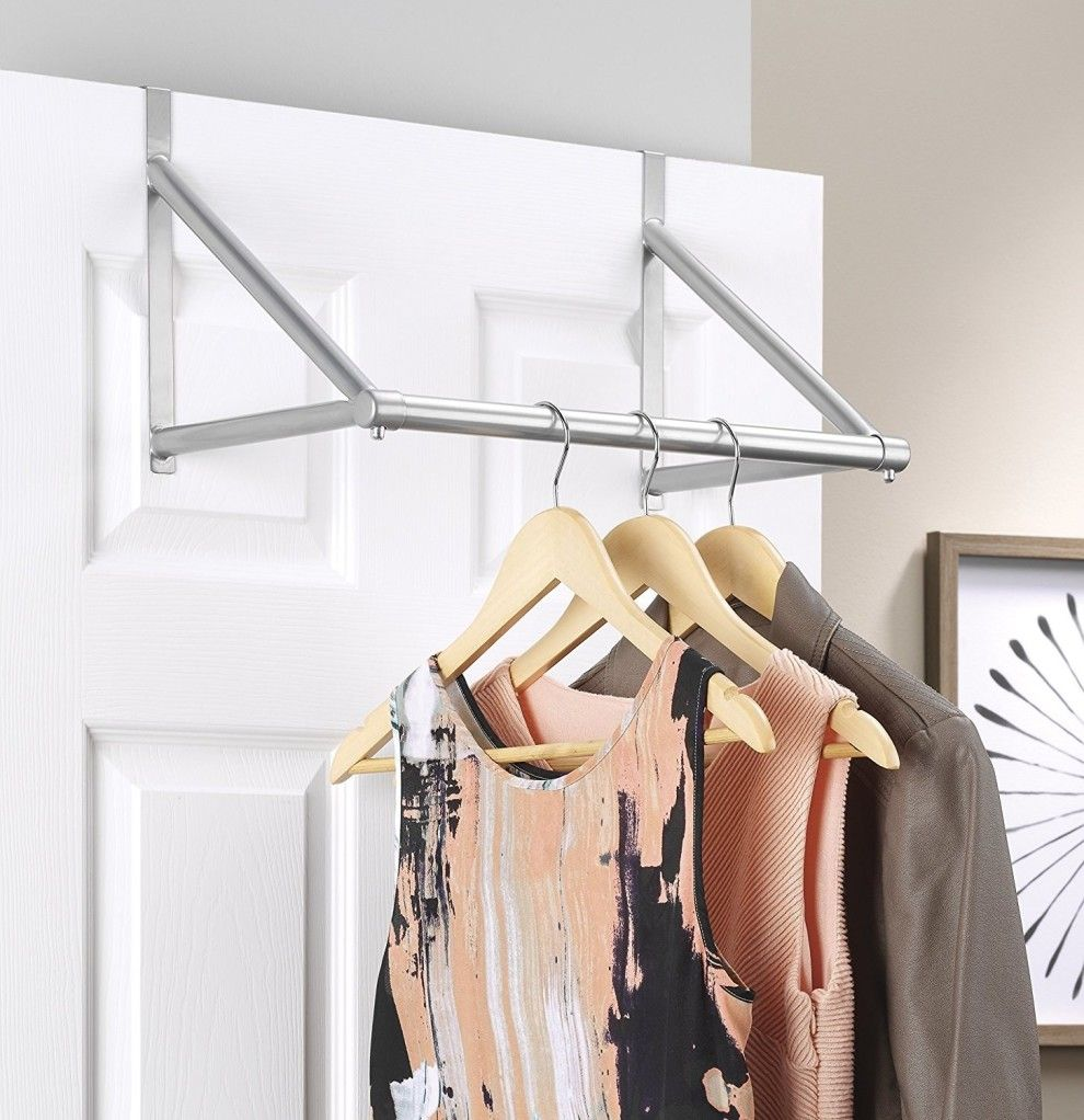 A Super Handy Over The Door Closet Rod For Planning Out Your Outfits The Night Before And Easy Access Come Morning With Images Space Saving Furniture Closet Rod Furniture For Small Spaces