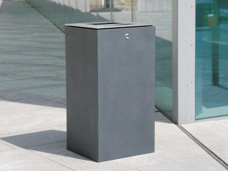 Caixote do lixo com cinzeiro LITTER BIN 710   Caixote do lixo com ...