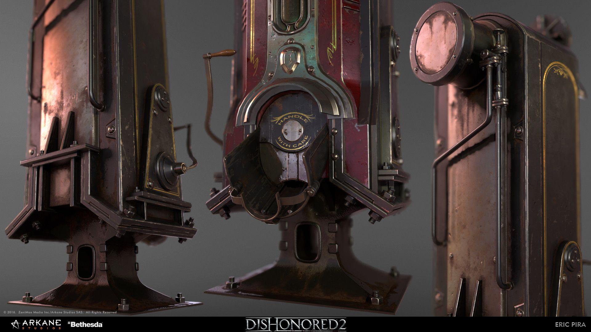 ArtStation - Whale oil dispenser Dishonored 2, Eric Pira | 3D in