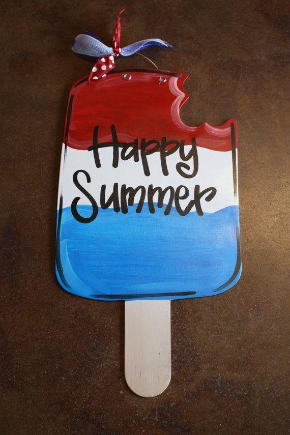 Fourth Of July Popsicle Door Hanger