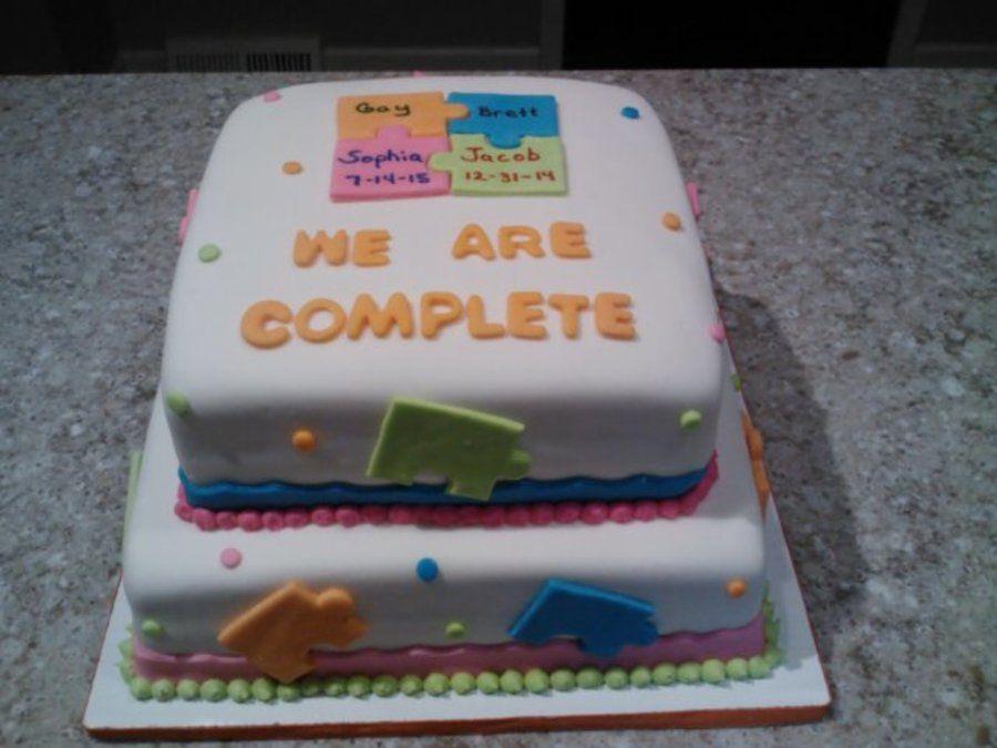 Adoption Gotcha Puzzle Fondant Cake