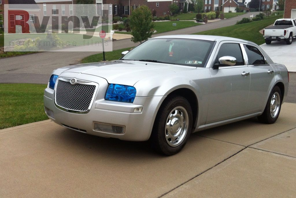 The Chrysler 300 Blue Smoke Headlights With A Bentley Conversion