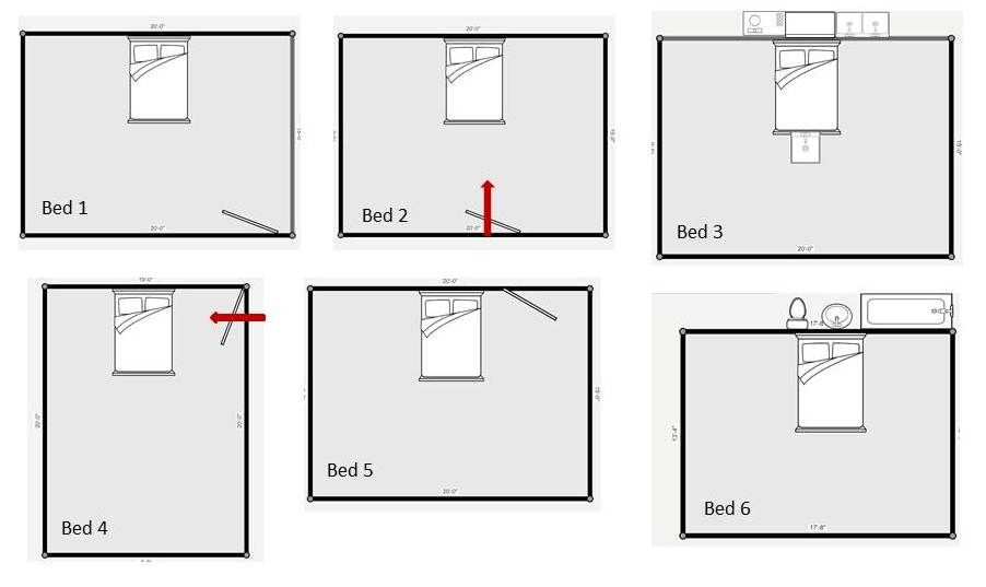 Feng Shui Bedroom Layout Two Windows With Images Feng Shui