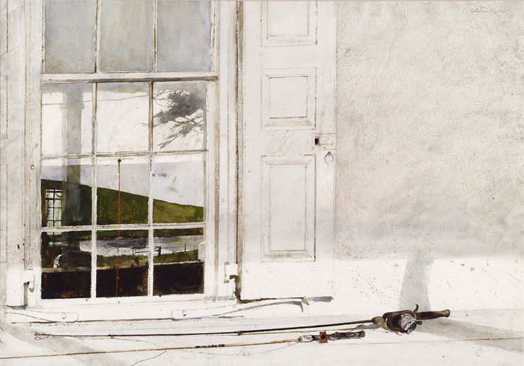 Andrew Wyeth Rod And Reel 1975 Watercolor On Paper Dr And Mrs