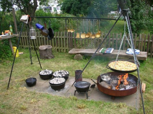 Feuerstelle Fur Dutch Oven Und Grillplatz Im Garten Feuerstelle Grill Selber Bauen