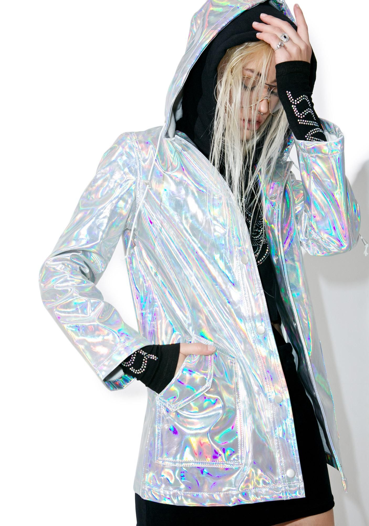 classic fit be50e 4ea69 holographic windbreaker