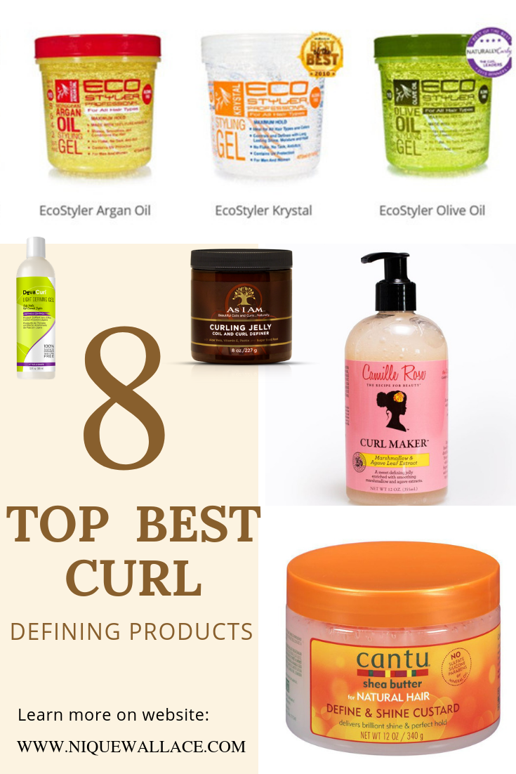 Top 8 Best Curl Defining Products is part of Curly hair styles naturally - Its always hard to find the best curl define products for hair   Using curl custards and gels always the best route to get super defined curls on natural curly or kinky hair