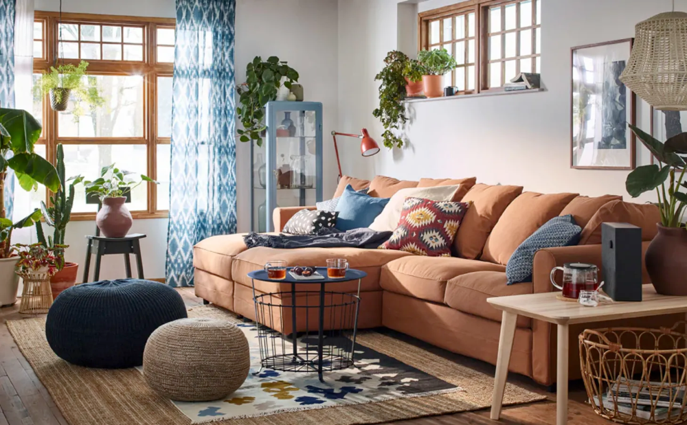 10 Colorful Living Room Ideas To Steal From Ikea Brown Living