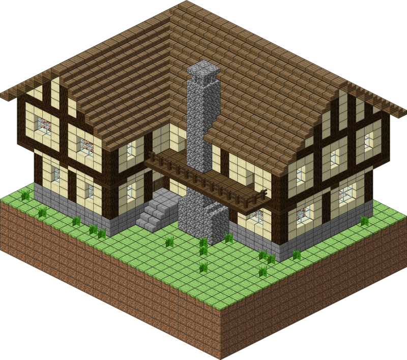Medieval Village Large House By Spasquini Deviantart Com On Deviantart Minecraft House Plans Minecraft House Designs Minecraft Blueprints