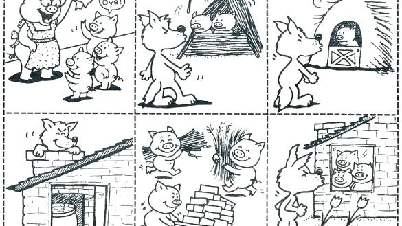 The Three Little Pigs Coloring Page Three Little Pigs Three Little Pigs Story Little Pigs