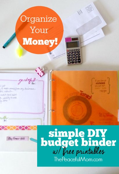 How to Make a Simple Budget Binder {+ free printables Simple diy - simple budget