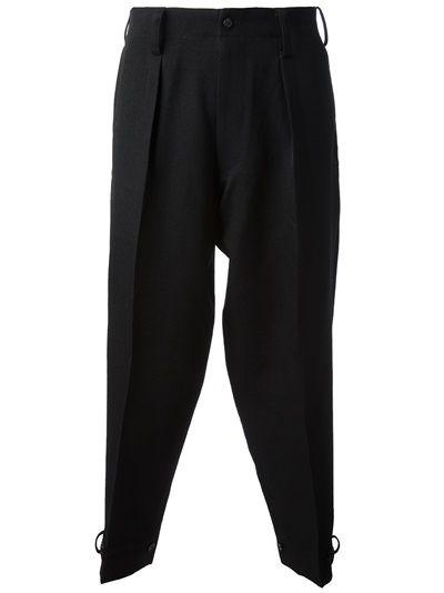 YOHJI YAMAMOTO 'Tuck Side Tap' Trouser