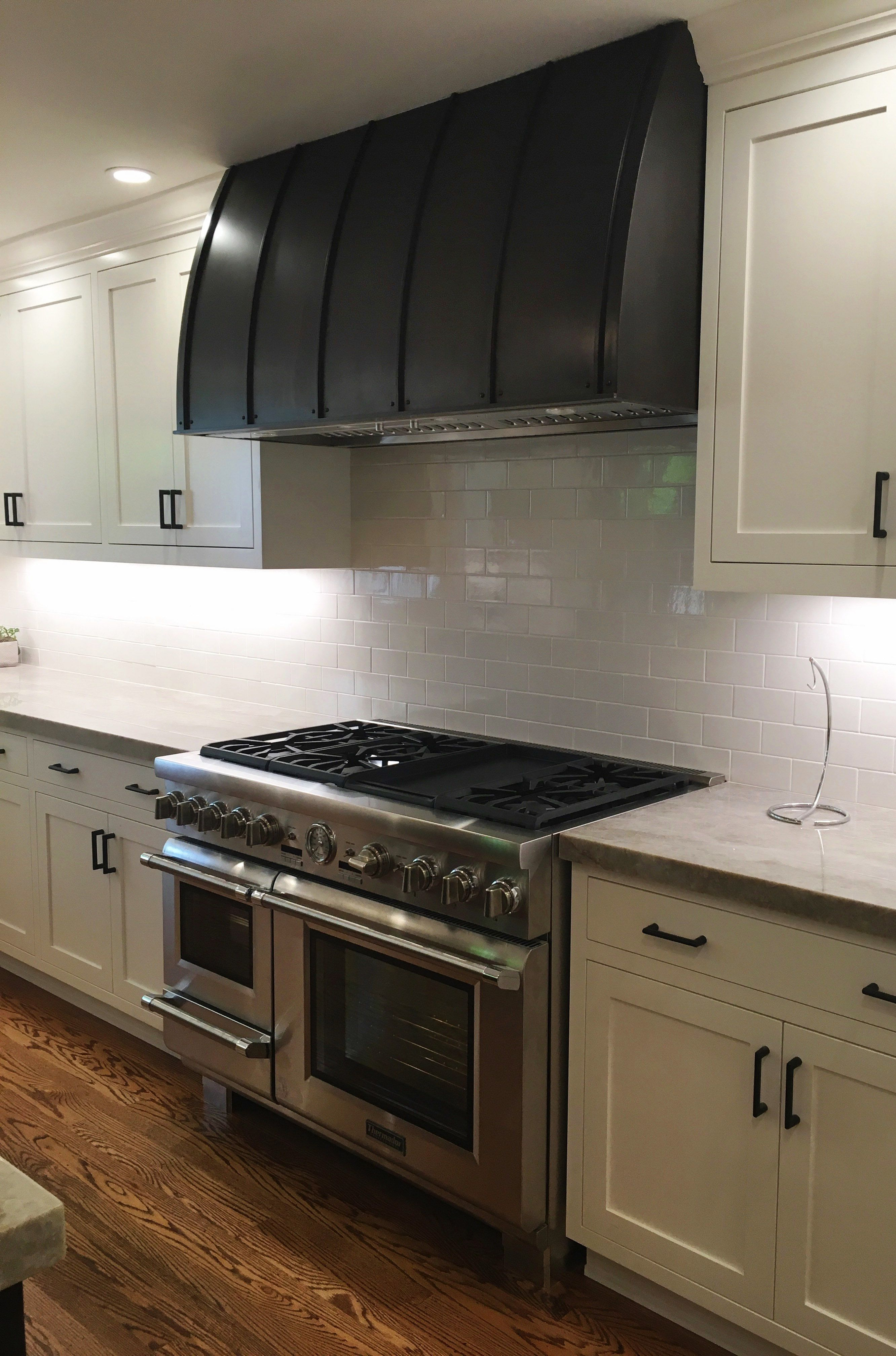 Custom Range Hood In Dark Washed Patinaraw Urth Designs Classy Custom Design Kitchen Decorating Inspiration