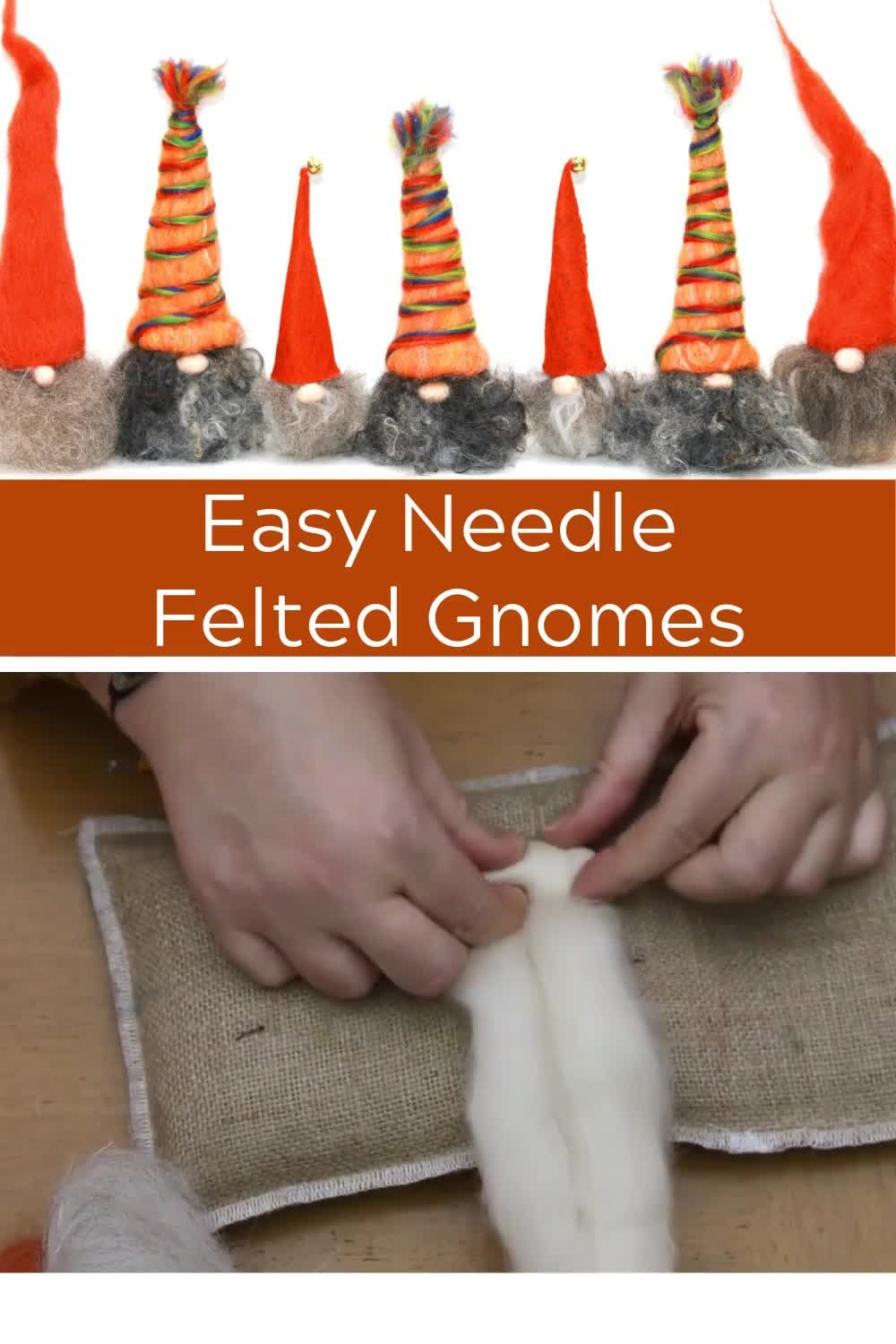 Easy Needle Felted Gnome - From wool to gnome in 3