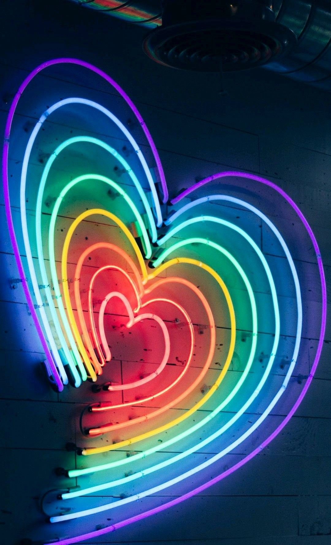 Neon Heart Rainbow Wallpaper Iphone Neon Neon Light Wallpaper