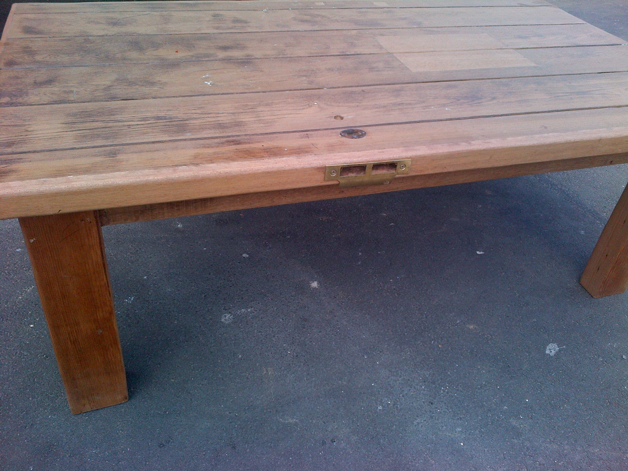 Rustic Coffee Table Recycled Oregon Pine Reclaimed