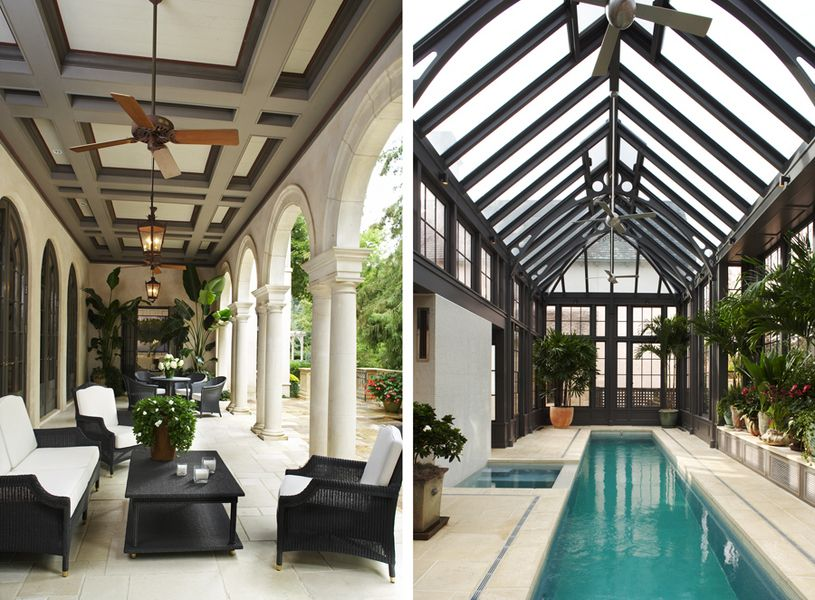 This reminds me of the ike and carol belk 39 s house in - Indoor swimming pools charlotte nc ...