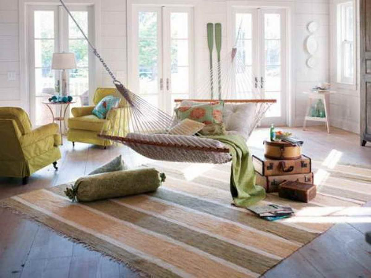 Relaxing Colors For Living Room Pastel Color Hammock Design Ideas At The Living Room Area With