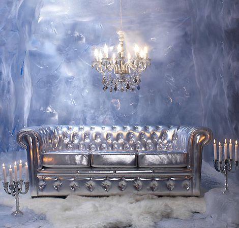 Exklusive Möbel Von Modani Im Barock Stil   Silbern
