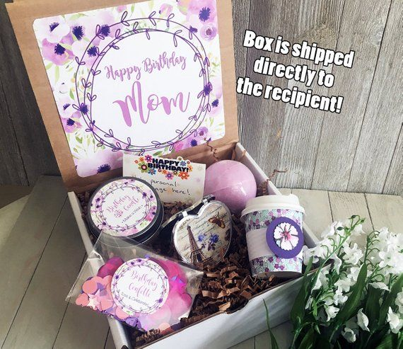 Happy Birthday Gift Box In A Mom Friend Confetti Set For Her Care Package