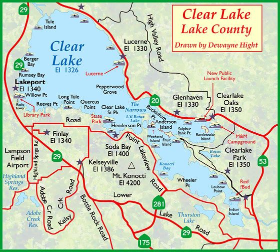 Clearlake Map Clear Lake California Clear Lake Lake County