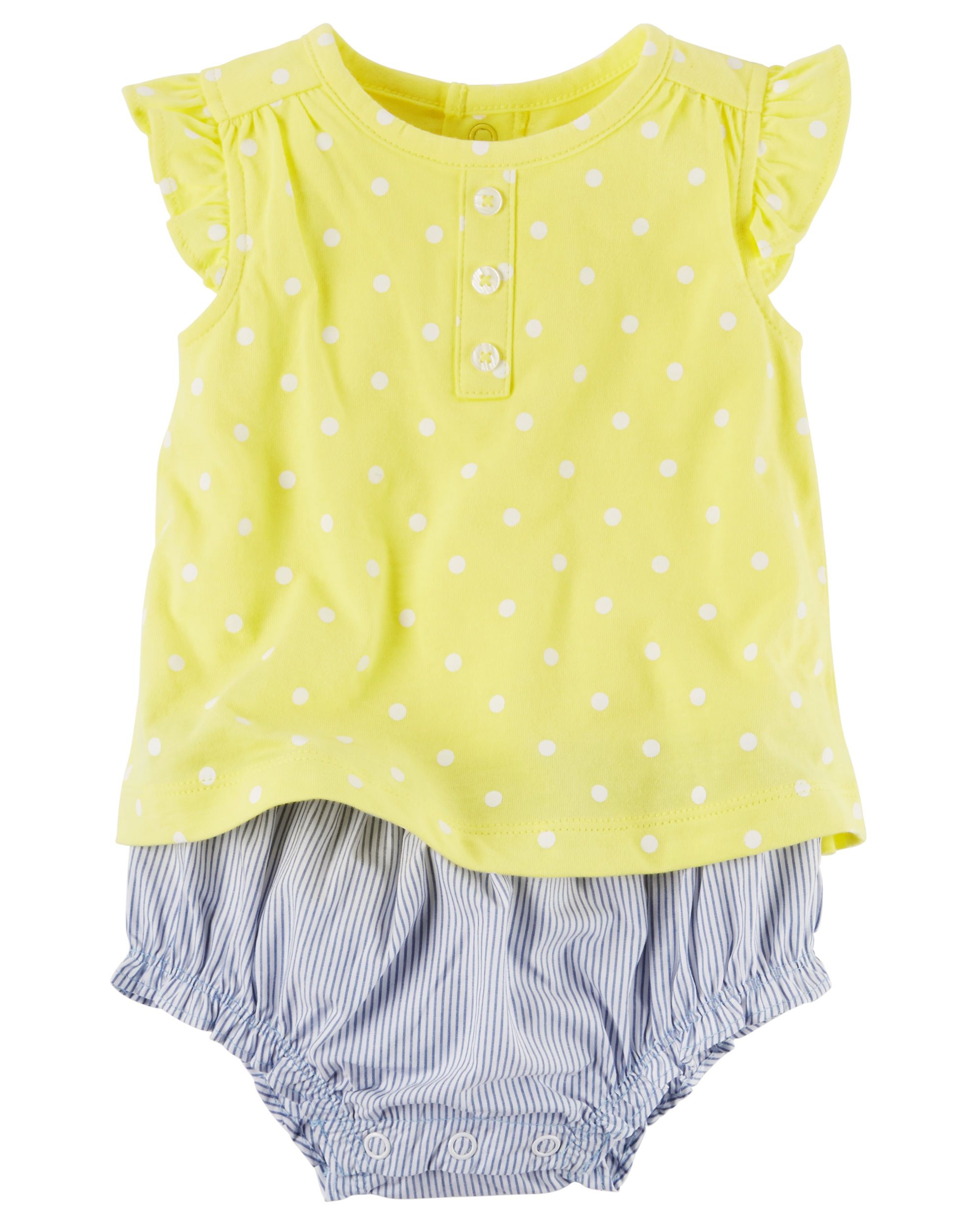 Layered Look Polka Dot Romper