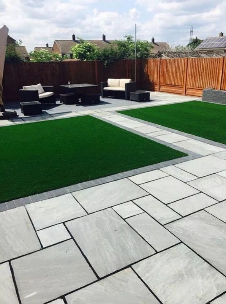 60 Great Ideas To Enhance Your Beautiful Home Yard With Stunning Paving Block Outdoor Landscape Design Modern Garden Design Patio Garden Design