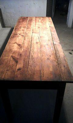 Alter Antiker Esstisch 2 24 M Lang Tisch Werktisch Vintage Auf In