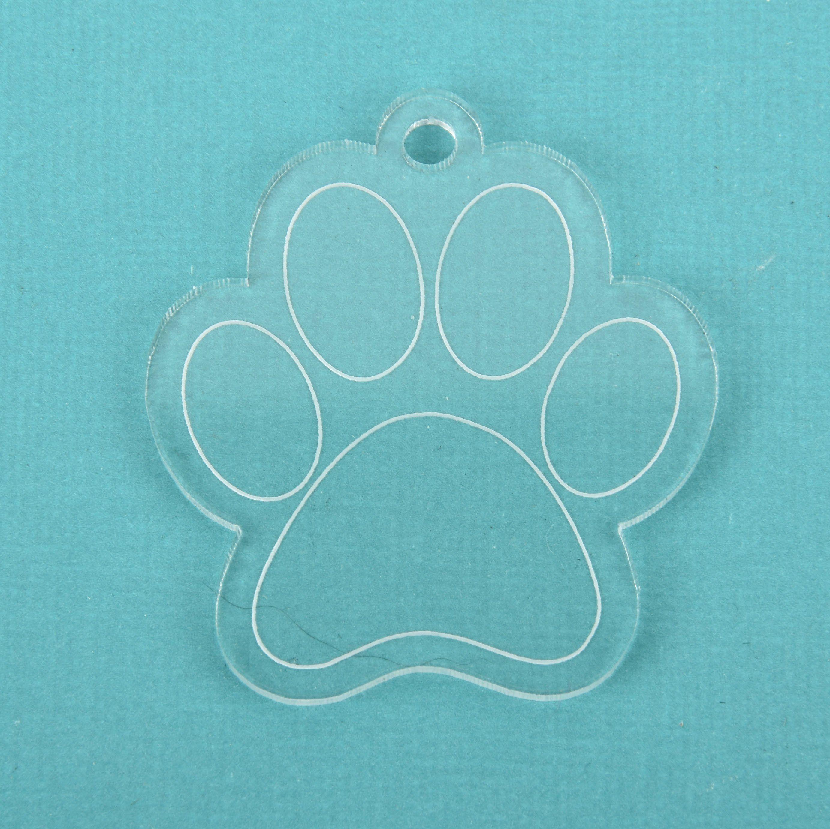 65fa9d5f4c3 Fabric Samples · 5 Clear PAW PRINT Acrylic blanks 2