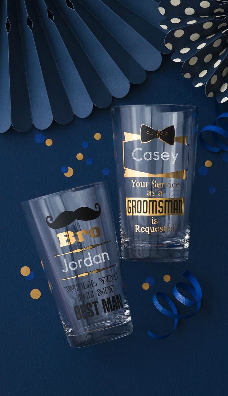 Ask The Groomsmen To The Wedding In A Way He Ll Remember Forever With Our Personalized Groomsman Pin Groomsmen Proposal Groomsman Gifts Gifts For Wedding Party