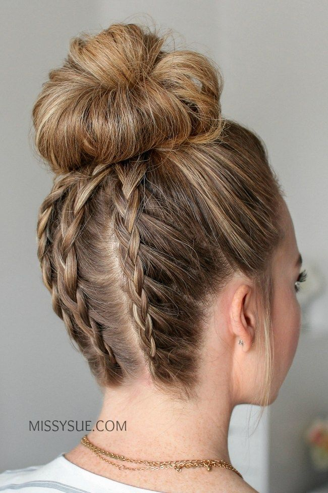 16 Cute Stylish Hairstyles For The Gym Tutorials Kat Blossom Stylish Hair Braided Hairstyles Braids For Long Hair