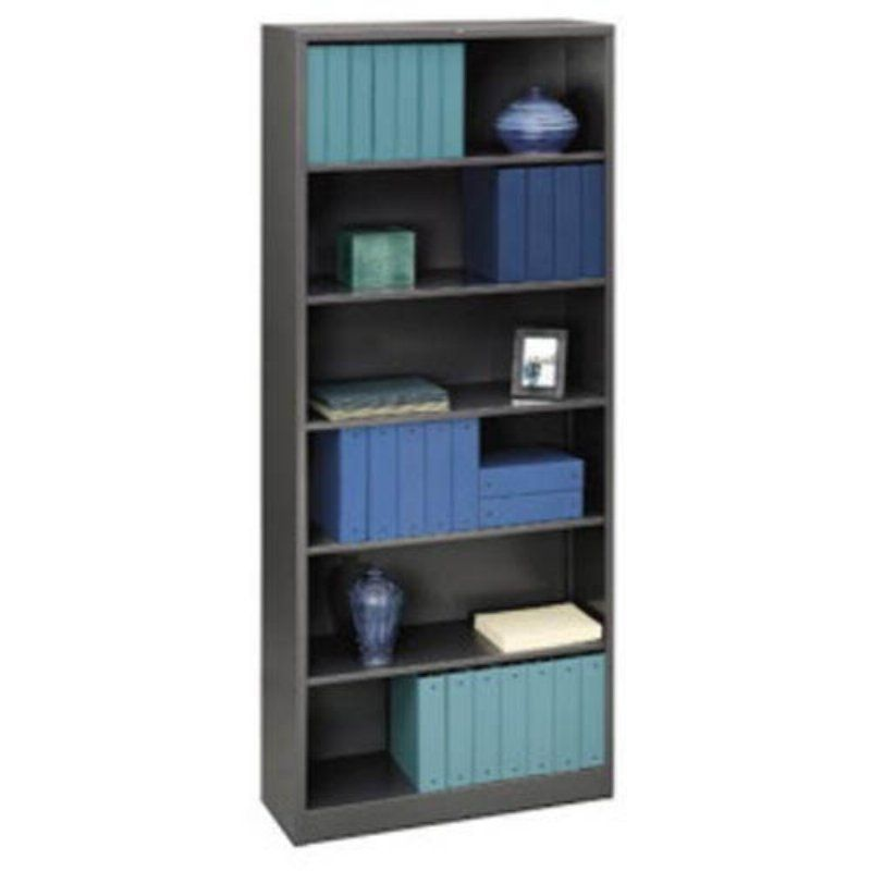 Hon 6 Shelf Steel Bookcase 81 Inch Black Hons82abcp Products Bookcase Metal Bookcase Shelves