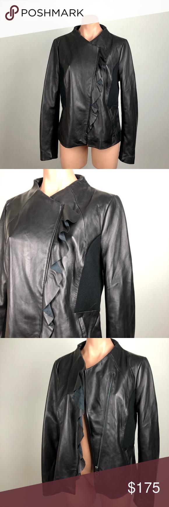 Nwotstylish Elie Tahari Fiona Black Leather Jacket Leather Jacket Women Brown Lamb Leather Jacket Leather Jackets Women [ 1740 x 580 Pixel ]