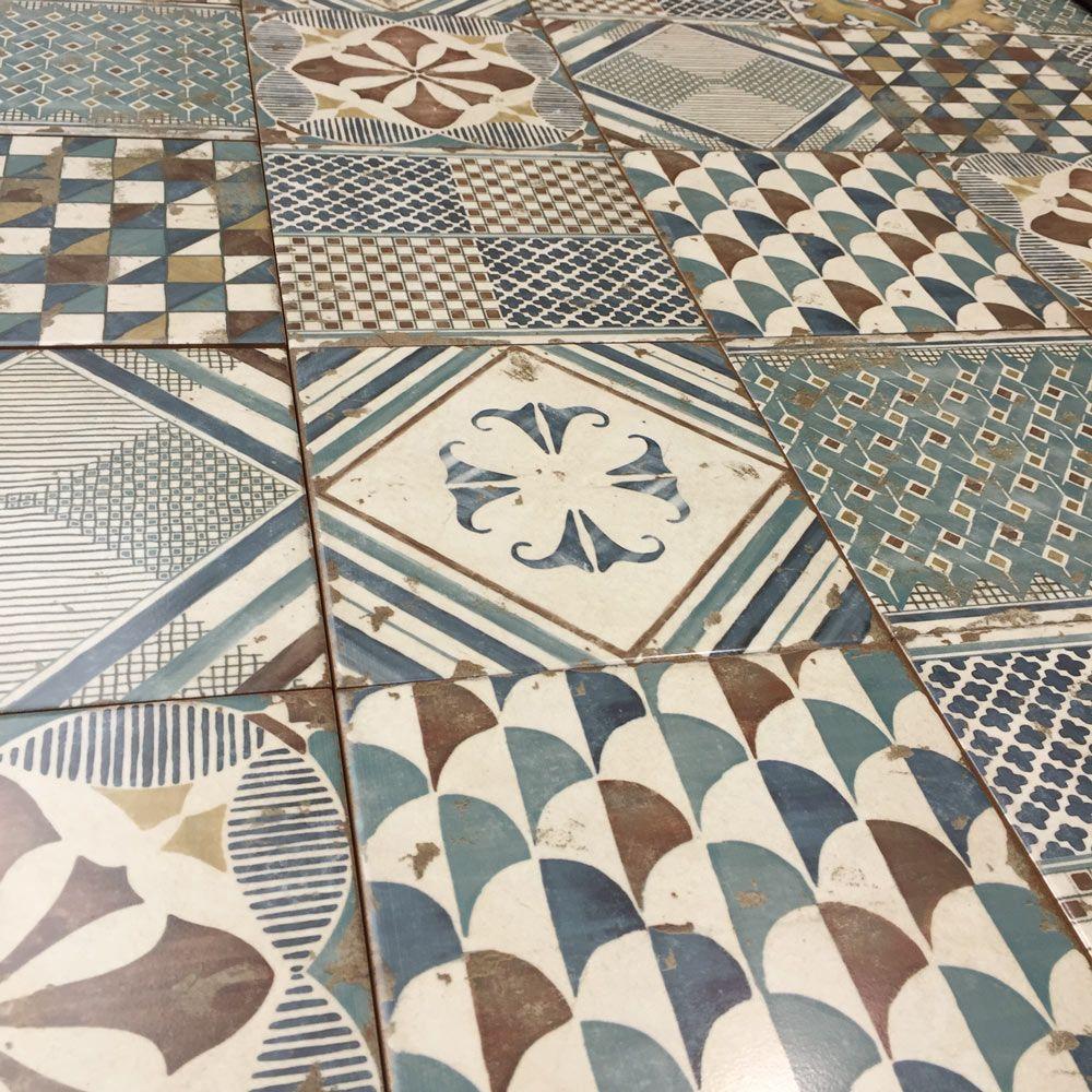 20x20cm Padua Pavimento Mix Pattern Tile Set In 2019