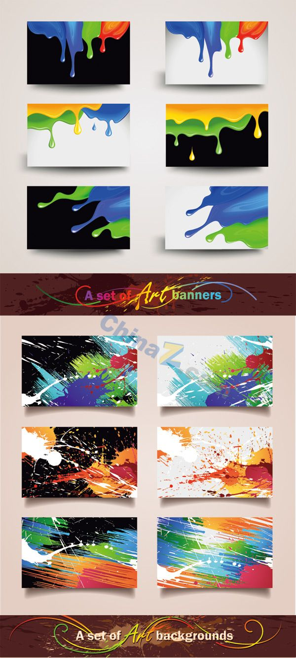 colorful business card template vector material download 02
