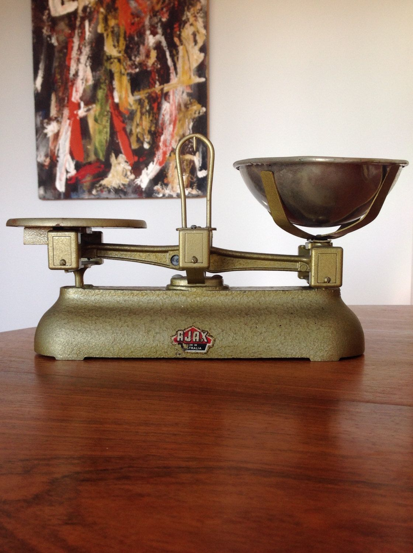 Vintage Kitchen Scales By Ajax Australia Golden Shabby Chic