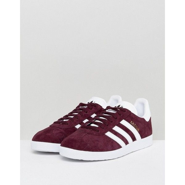 separation shoes 4fc09 b5690 adidas Originals Gazelle Sneakers In Maroon ( 70) ❤ liked on Polyvore  featuring shoes, sneakers, adidas footwear, retro shoes, retro jerseys,  lace up shoes ...