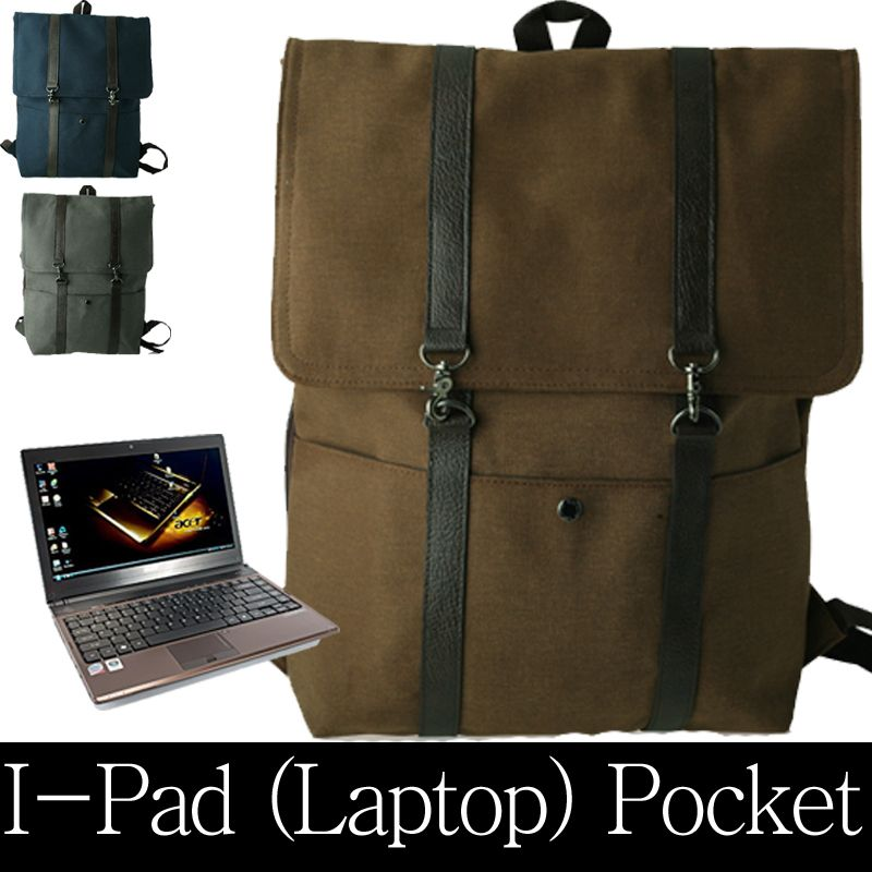 Vintage canvas rucksack backpack: large; laptop: black School bag mens Travel   eBay