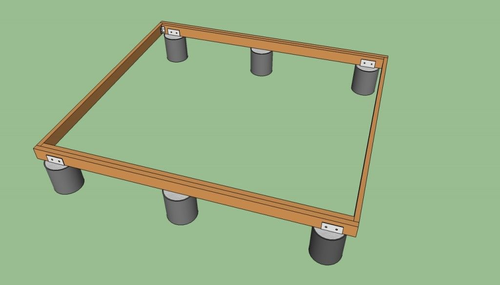How To Build A Deck On The Ground Howtospecialist How To Build Step By Step Diy Plans Building A Deck Diy Deck Deck Building Plans