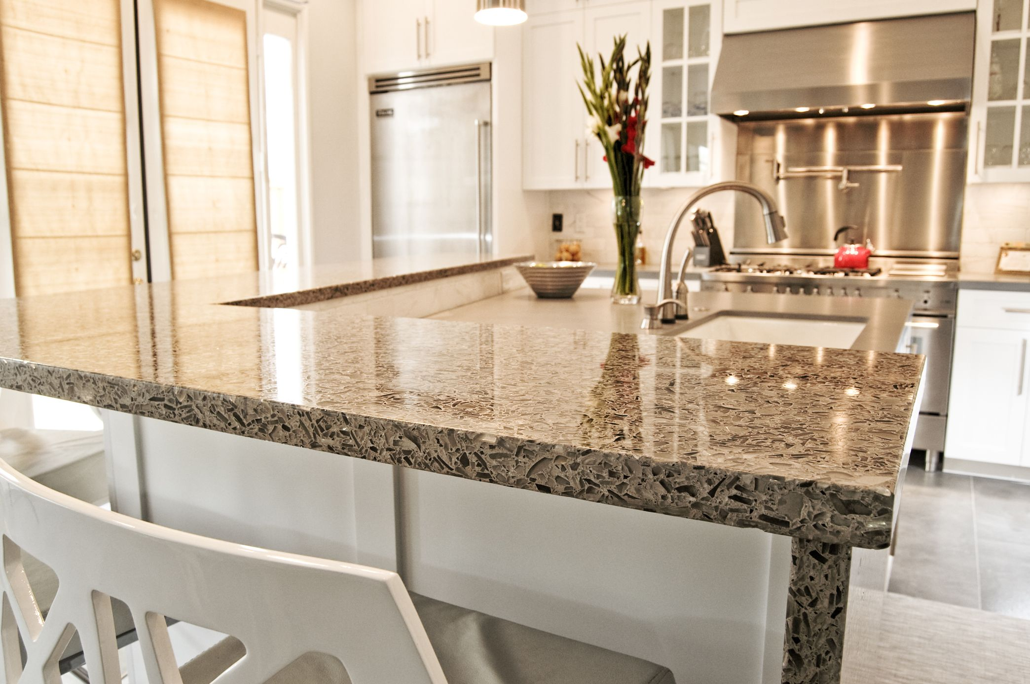 12 Best Vetrazzo Installation Images On Pinterest Recycled Gl Beer Bottle Concrete Counter Tops