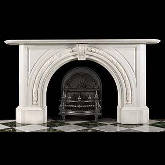 antique marble fireplace mantels. A Large Victorian Arched Antique Marble Fireplace Surround Antique Mantel