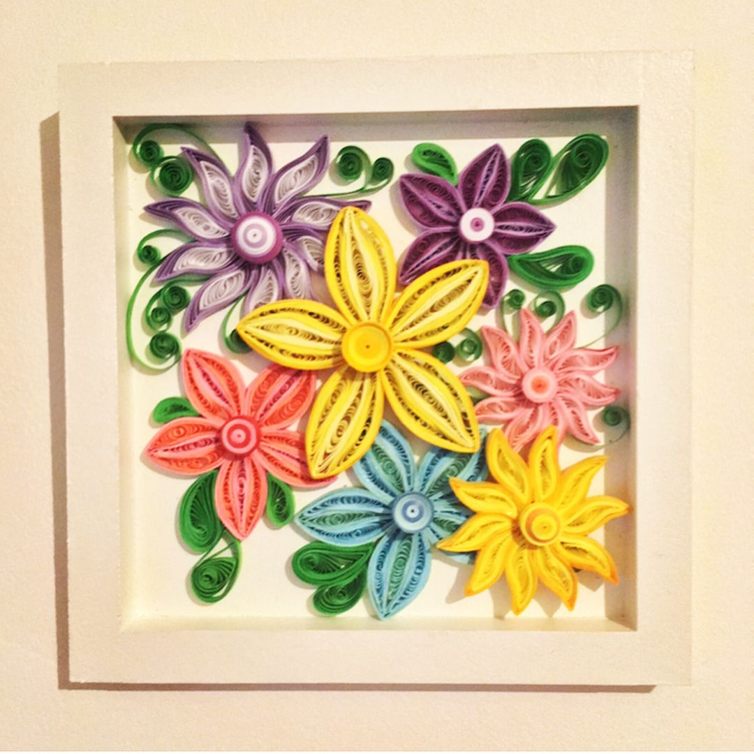 Beautiful Quilled Flower Magnet | Magnets